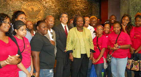 Atlanta City Council members along with H.E.A.R.T. members during the passing of the Smoke Free Ordinance for City Atlanta Parks and Recreation Centers